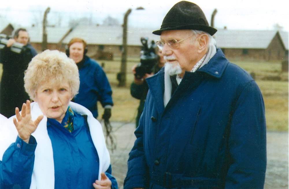 Hans Munch and Eva at Auschwitz