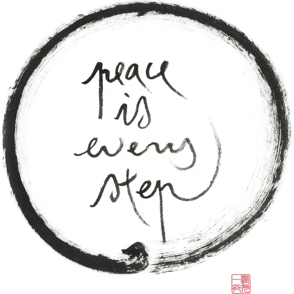 Thich Nhat Hanh, peace, mindfulness, meditation, yoga, step by step