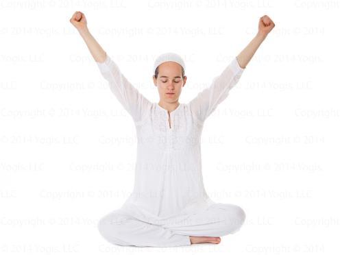 Kundalini Yoga, Extended Arms, Yoga, Metta Yoga, Kriya to Release Fear,