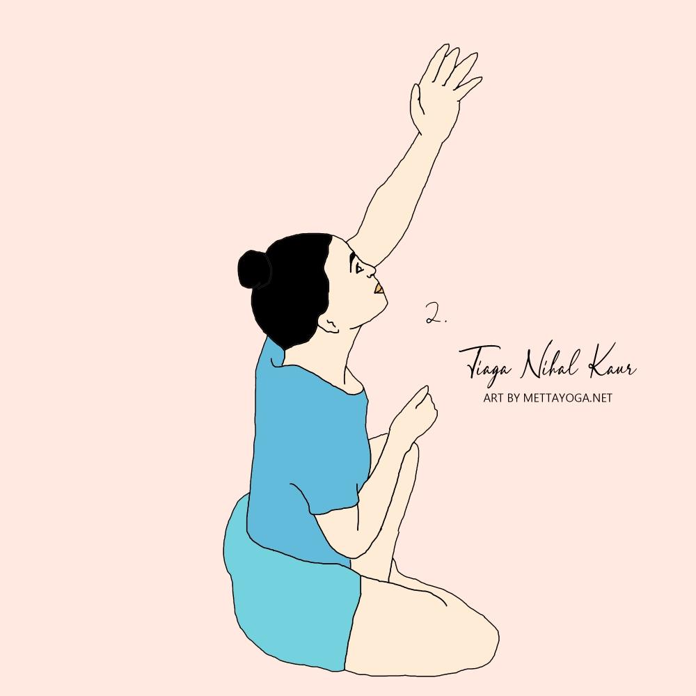 kundalini yoga, kundalini, mettayoga.net, tiaga nihal kaur, illustration, yoga, yoga illustration, kriya, yoga kriya,