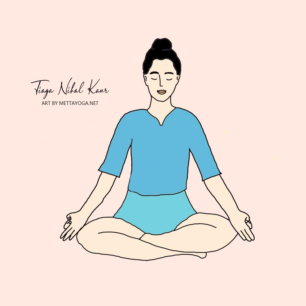 Kundalini Yoga, Metta Yoga, Tiaga Nihal Kaur, Illustration, Yoga Illustration, Yoga Art, Yogalærer, Mindfulness, Mantra, Adi Shakti, Kundalini Meditation, Meditasjon,