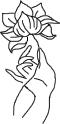 mettayoganet, metta yoga, tiaga nihal kaur, art, art by tiaga nihal kaur, awareness, lotus, hand, yoga, illustration, artistic,